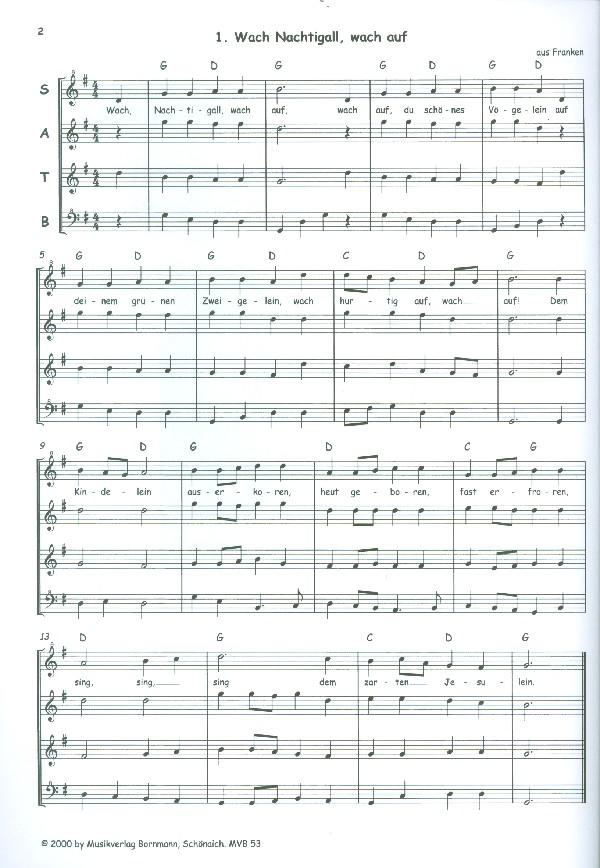 Bornmann, Advents-und Weihnachtslieder - Die Holzbläser